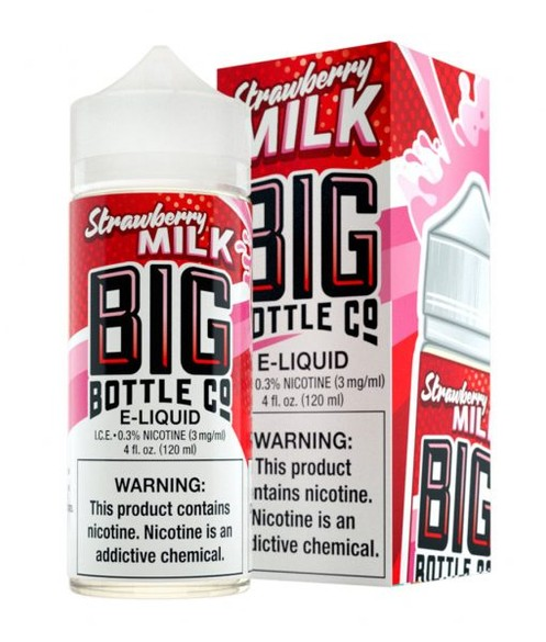 BIG BOTTLE CO STRAWBERRY MILK 120ML