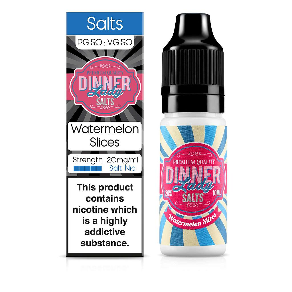 DINNER LADY SALTS WATERMELON SLICES 10ML 10MG